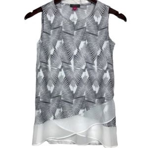 Vince Camuto Printed Layer Sleeveless Top Size PXS